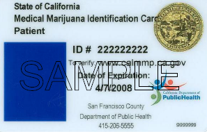 Sample Patient Medical Marijuana Identification Card